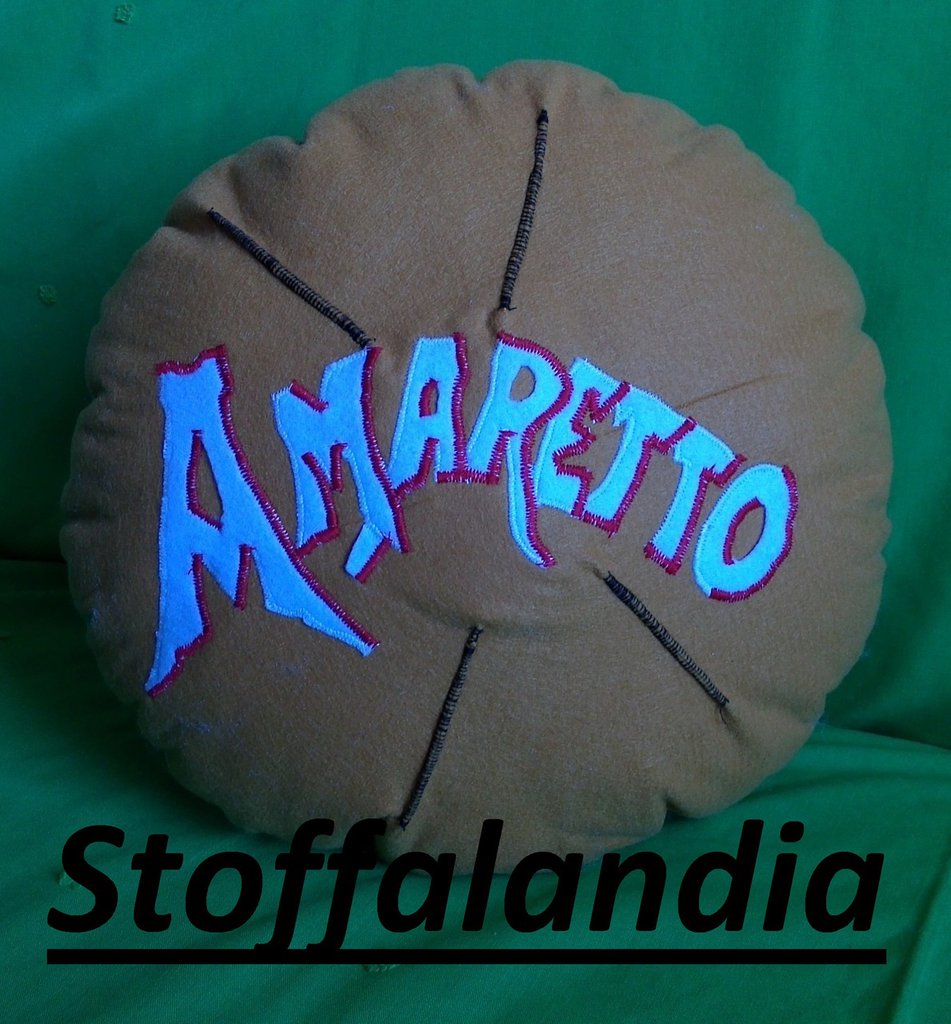 AMARETTO CUSCINO IDEA REGALO