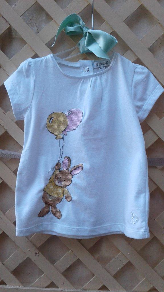 maglietta coniglietto con palloncini
