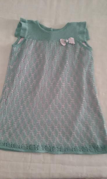 vestito abito bimba maglia cotone verde