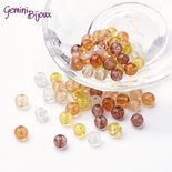 "Lotto 50 perle tonde crackle 6mm mix ""Caramel"""