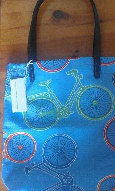 borsa tracolla con biciclette