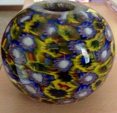 Sfera in vetro di Murano con Murrine