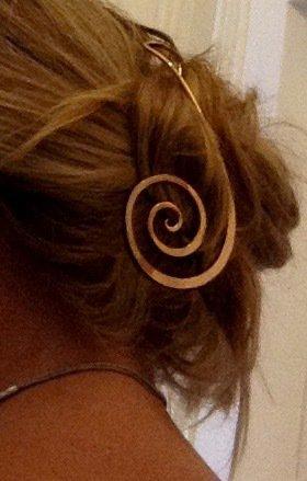 Ferma capelli o ferma foulard in ottone inalterabile senza nichel free