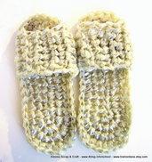 Ciabattine a crochet/uncinetto in filo di plastica riciclata