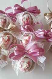 sfere di confetti - battesimo - comunione - cresima -  segnaposto - bomboniere comunione - bomboniere cresima - bomboniere battesimo - confetti nascita - confetti decorati