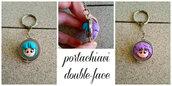 """Portachiavi """"double-face"""" con Yu e Creamy fimo"""