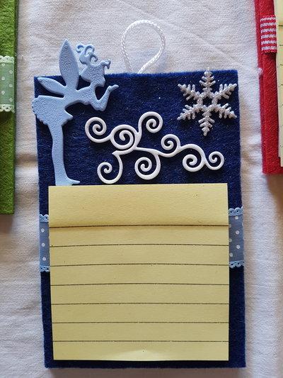 porta post it in feltro