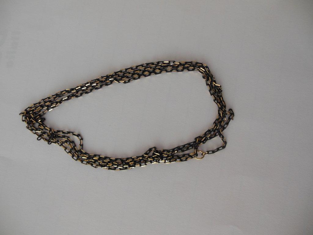 Catena in Alluminio -  Forzatina Ovale Diamantata Oro 4x2 mm