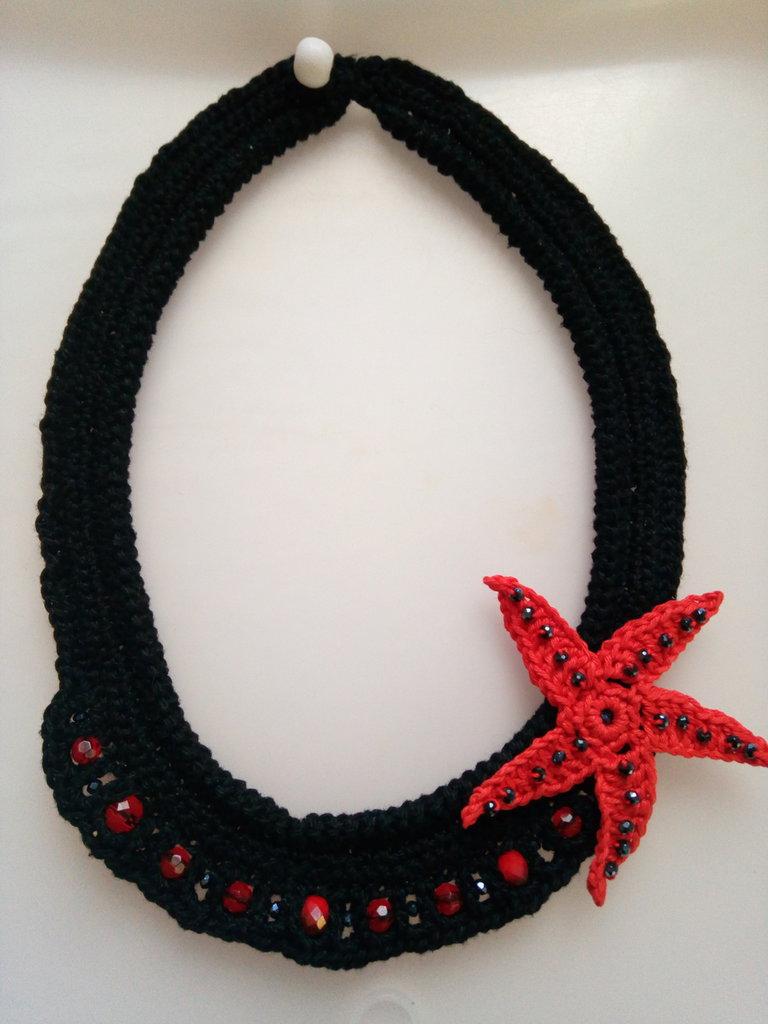 Collana Girocollo Nero di Stella