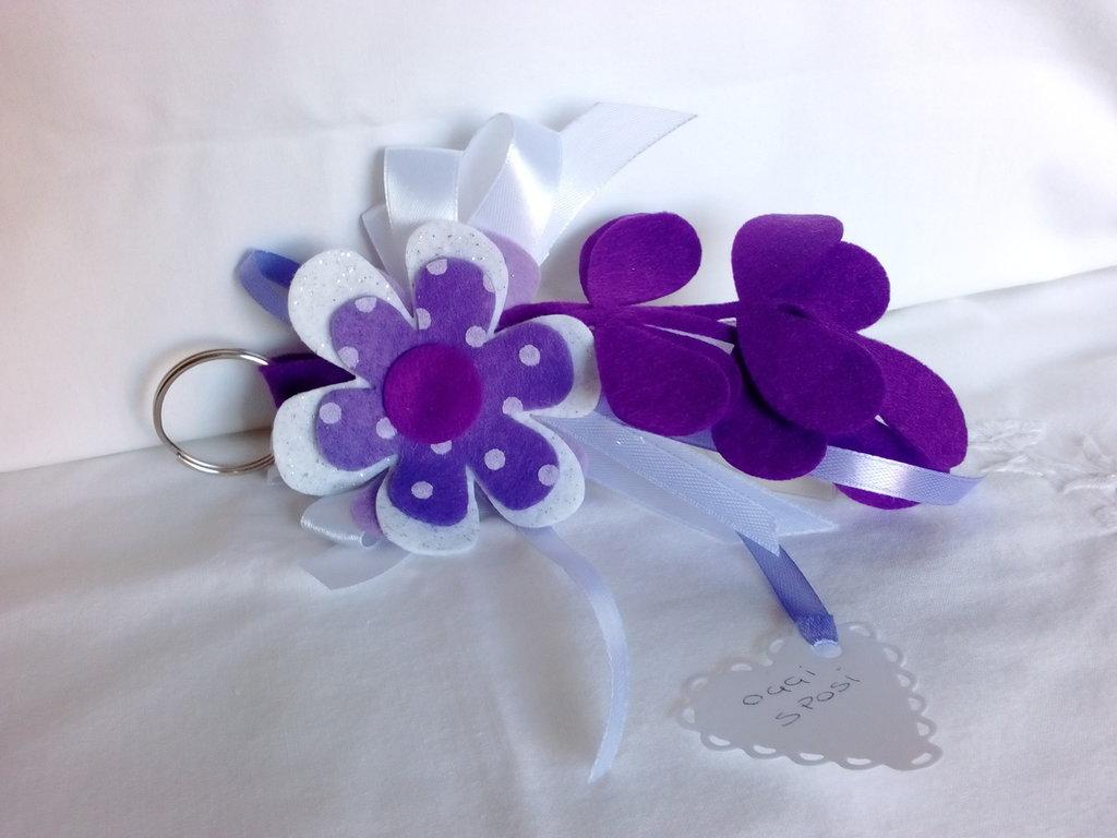 bomboniera portachiavi fiore