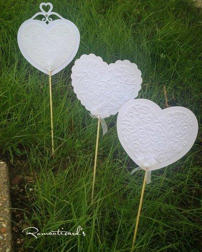 Ventaglio a forma di cuore ideale per decorazione al ricevimento by Romanticards