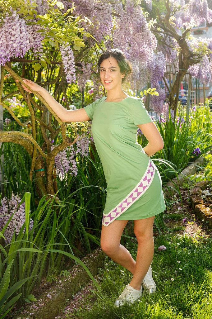 Abito VIVINATURALE  cotone biologico certificato GOTS verde