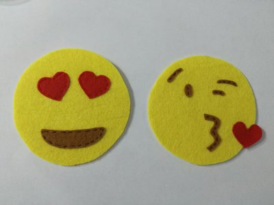 Sottobicchieri emoticon feltro