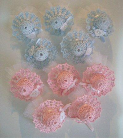 Cappellini rosa bomboniera
