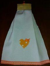 Asciugamano+cestino cucina country chic
