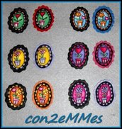 "Broches Camafeo Tela - Colección ""Mis macetas"""