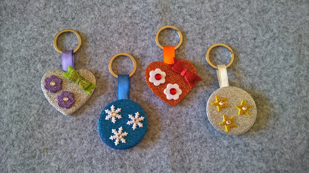 Portachiavi personalizzabile in Crepla Glitter Bomboniera Idea Regalo