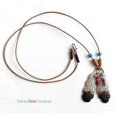 Collana con piume d'aquila nativi americani