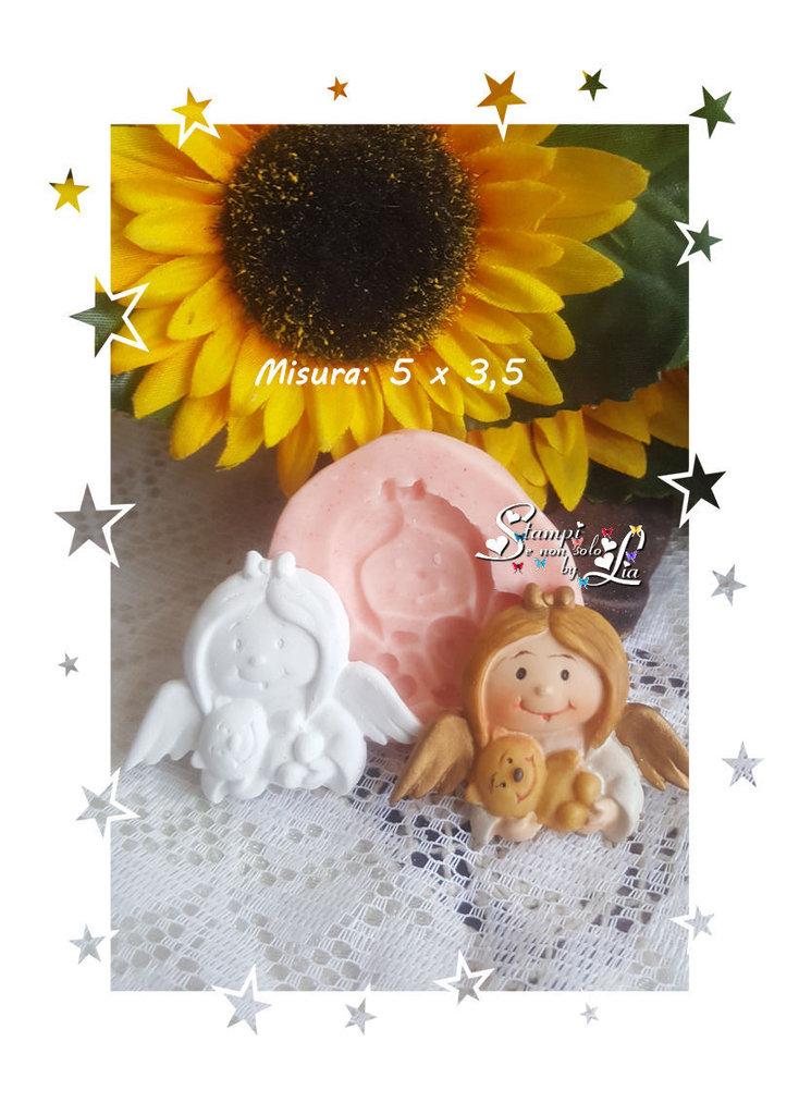 Stampo *Angioletto bambina con orsacchiotto*