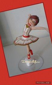 ballerina topper torta decorazione
