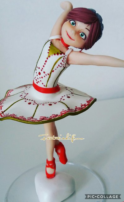 Ballerina topper torta decorazione cake design cake topper di