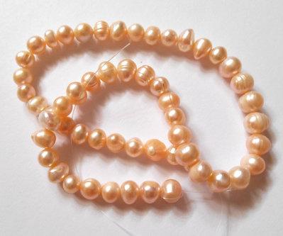 Perle di fiume rosate 1 filo
