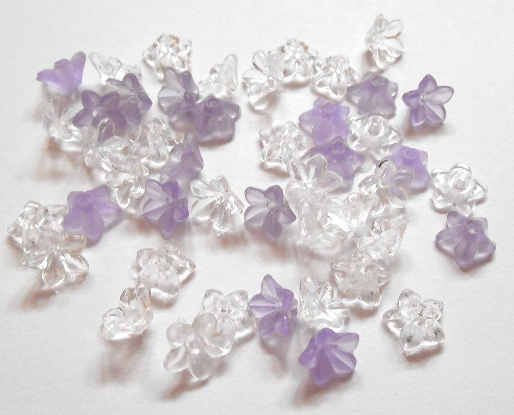 75 fiorellini acrilici due colori 9x5mm