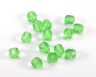 50 perle mezzo cristallo 5mm verde