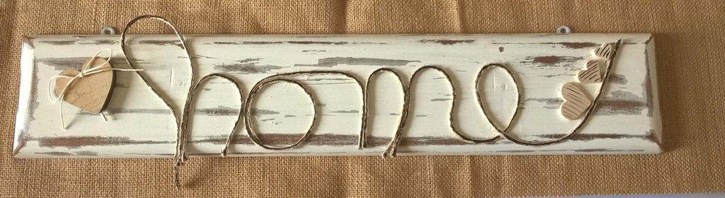 Pannello legno con scritta home decorazione casa scritta Home