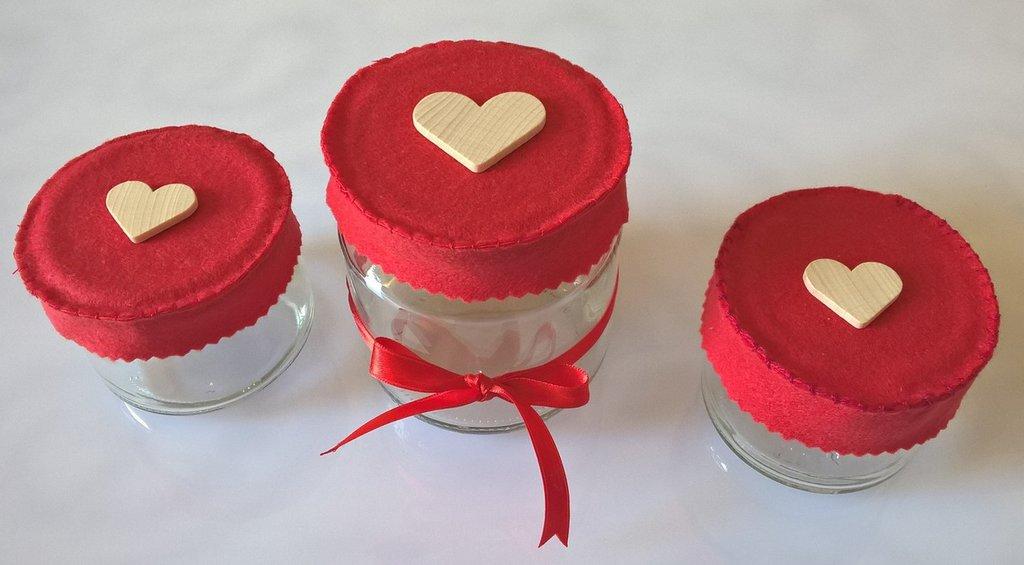 Vasetti barattoli per spezie decorati in vetro da cucina