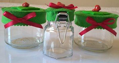 Vasetti barattoli per spezie decorati con portavasetti in vetro da cucina