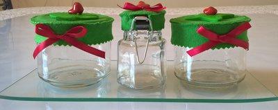 Vasetti barattoli per spezie decorati con portavasetti in - Vasetti vetro decorati ...