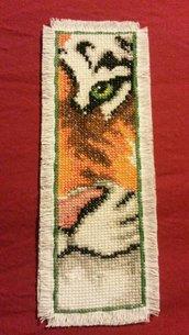 Segnalibro tigre punto croce