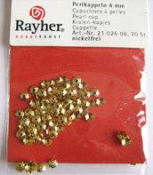 Coppette copriperla dorate 4mm Rayher