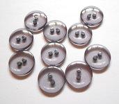 22 bottoni in plastica grigio-lilla