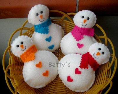 Pupazzo di neve - pannolenci