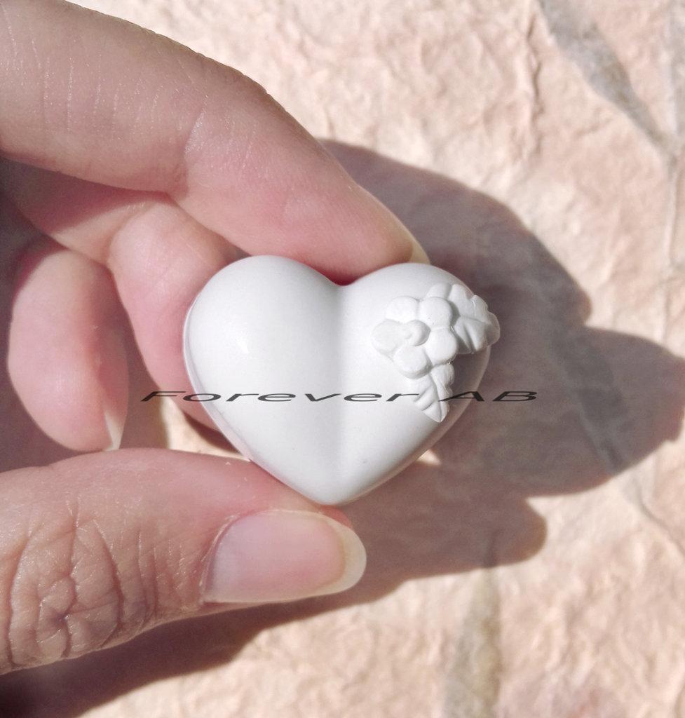 Gessetti cuore con fiore bomboniere matrimonio cuori segnaposto nozze sposalizio