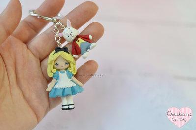 Portachiavi Alice e Bianconiglio