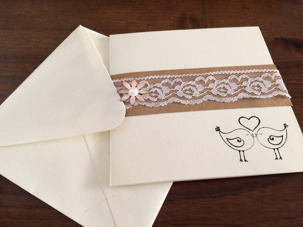 Busta Matrimonio Toscana : Partecipazione matrimonio shabby chic bianca con busta