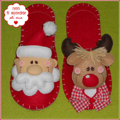 Pantofole renna feste natale di lan su misshobby for Pantofole natalizie