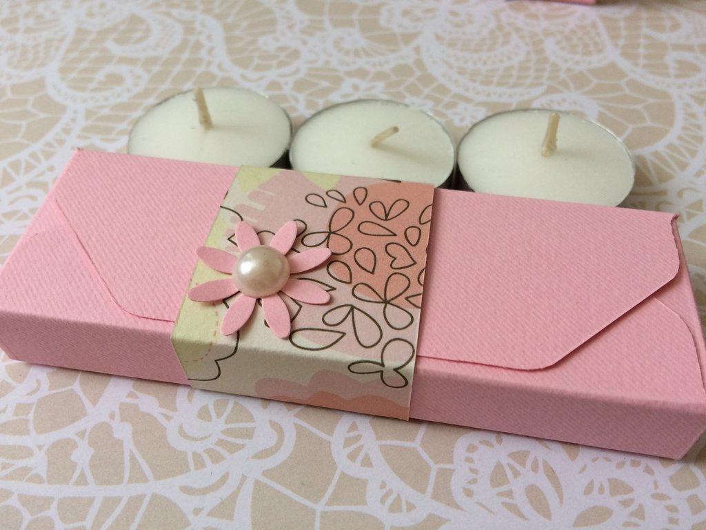 Scatolina confetti battesimo bimba rosa matrimonio confettata bomboniera porta confetti