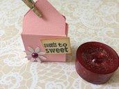 Segnaposto battesimo bambina scatolina rosa decorata