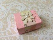 Segnaposto nascita bimba battesimo rosa scatolina porta cioccolatini