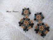 Orecchini perline pendenti fatti a mano