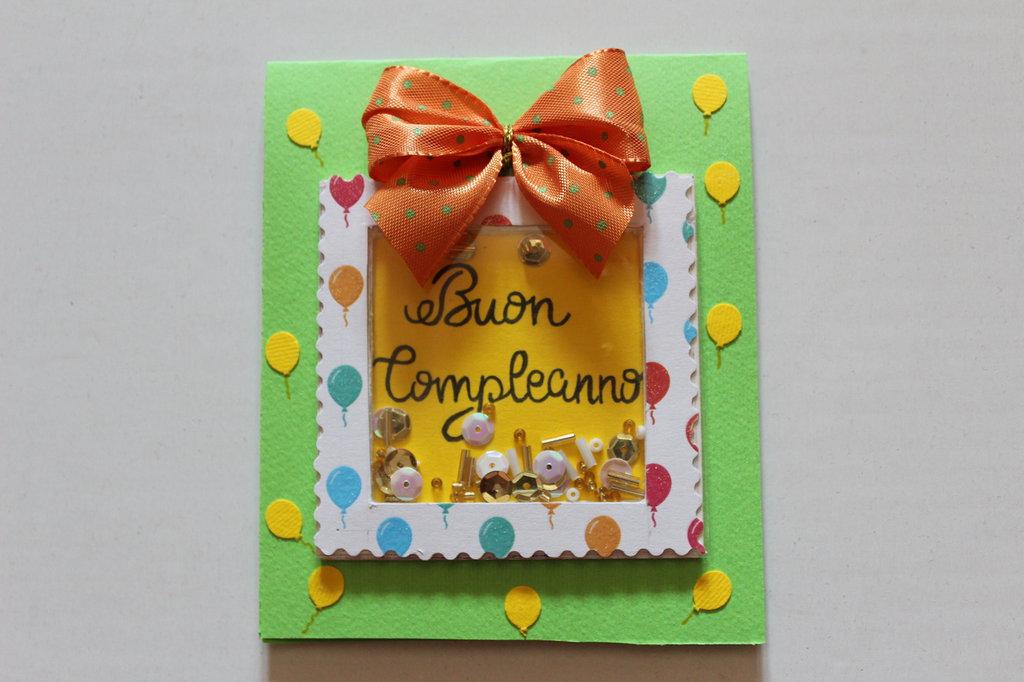 Biglietto Auguri Compleanno - Pacchetto Shaker