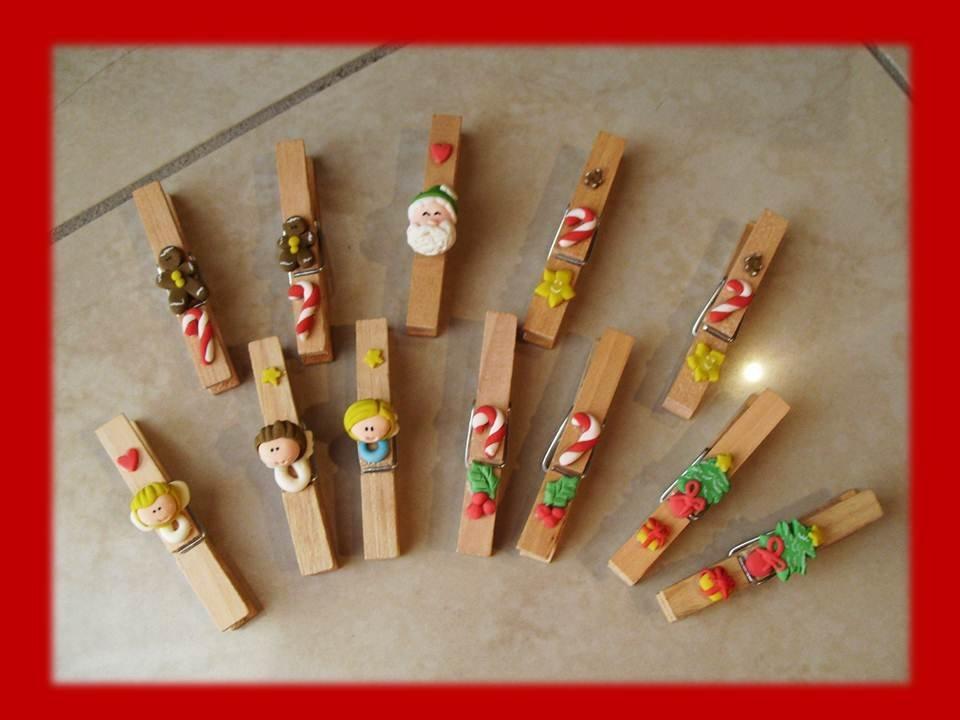 Mollette chiudipacco- Regalo Natale