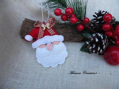 Decorazioni Natalizie in feltro Babbo Natale