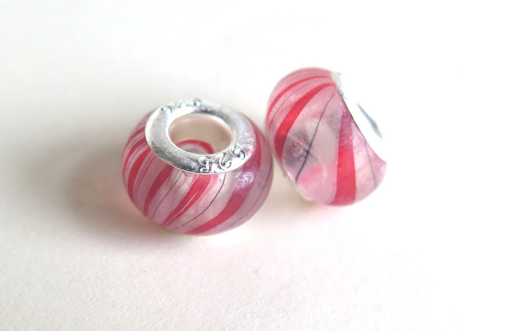 10 Perle a foro largo acrylic PFL7