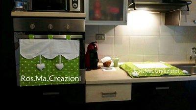 Coordinato Cucina Copri Forno e Copri Fornelli Fatto a Mano