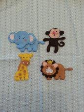 Animali (4 pezzi a scelta) in feltro pannolenci per decorazione bambino